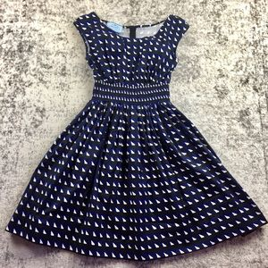 PRADA Geometric A-Line Dress (42)